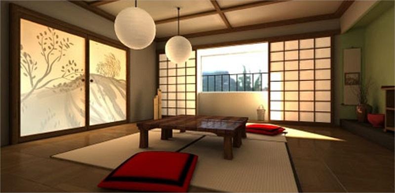concetto di living room in oriente