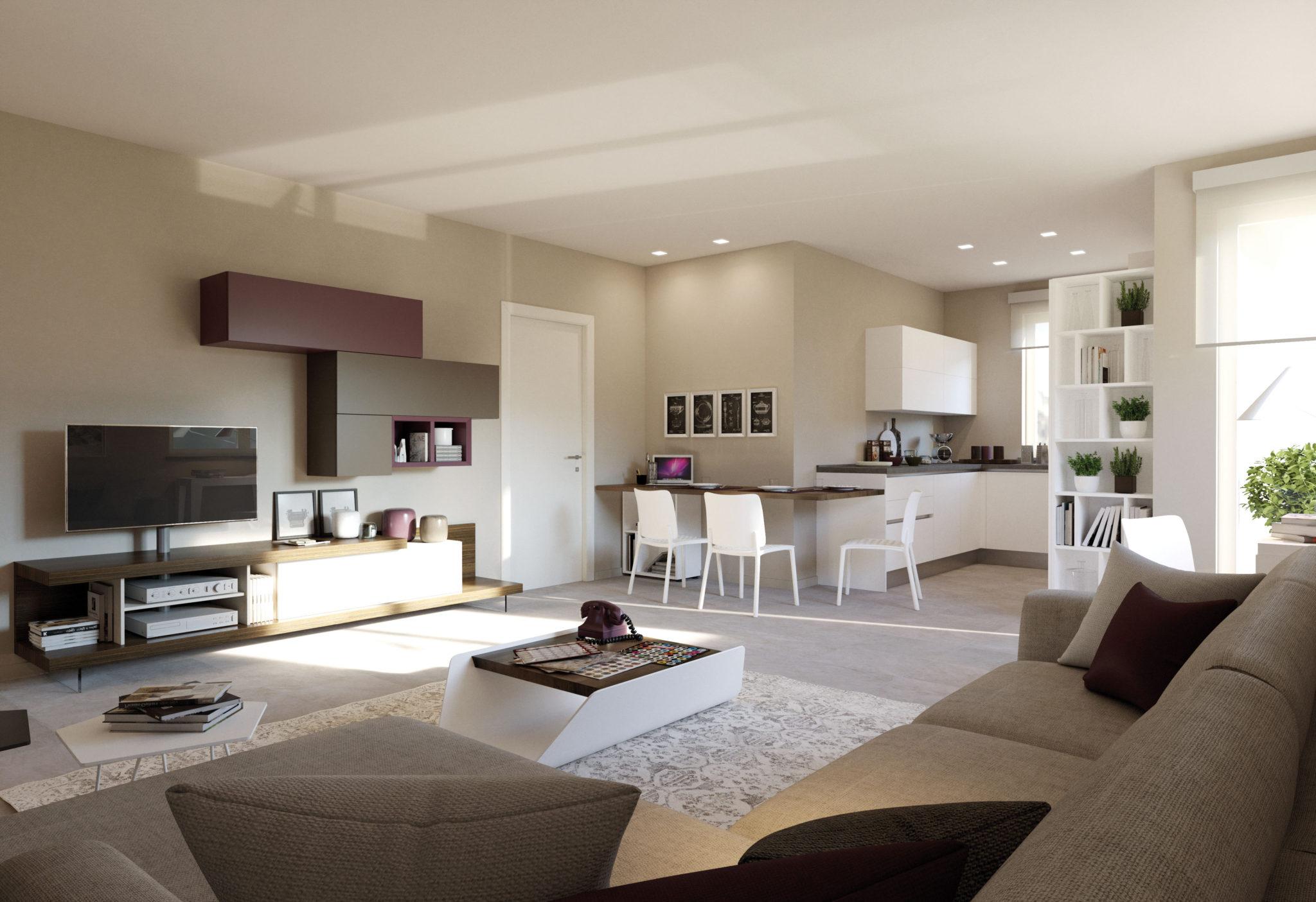 Unire soggiorno e angolo cottura casa live for Soggiorno cucina open space