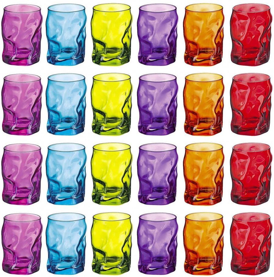 design per bicchieri colorati