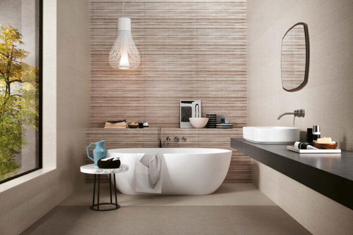 Piastrelle effetto tessuto per un bagno decor casa live