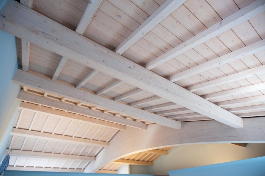 tetto in legno in abete bianco