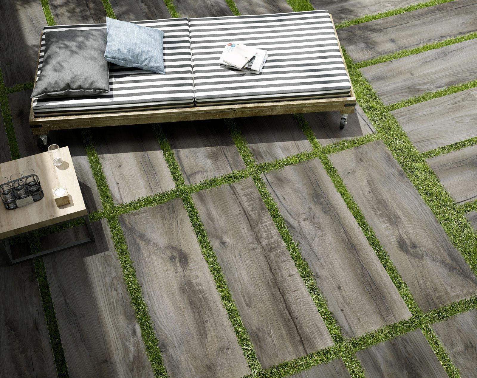 Pavimenti esterni per giardino in gres porcellanato