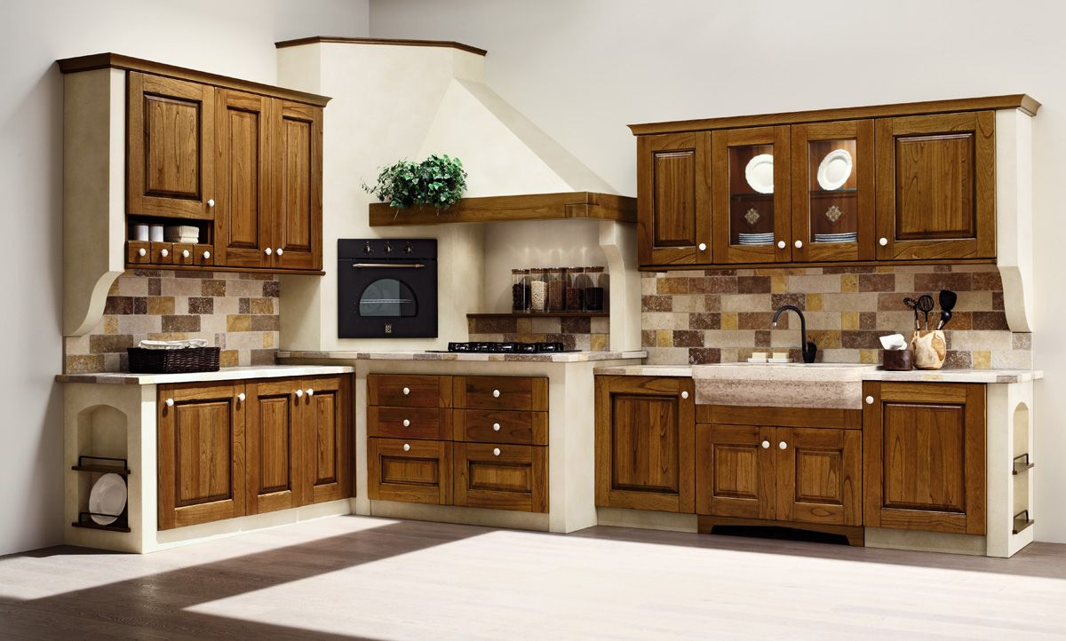 Cucine in muratura - Stile Rustico o Moderno? - Casa Live