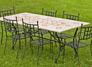 sedie da giardino in ferro battuto