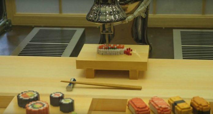 Sushi stampato in 3D