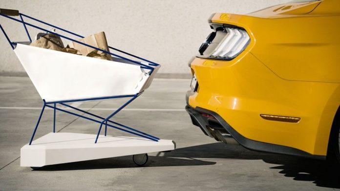 Ford Self-Braking Trolley, il carrello della spesa che evita gli scontri