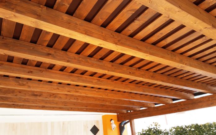 copertura in legno per esterni