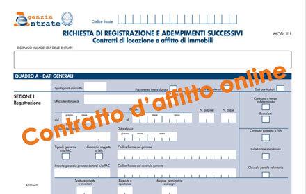 contratto di locazione online